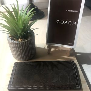 Authentic Coach Check Book Signature Insert